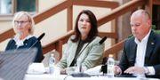 Sommarfika med regeringen Lena Micko (S), Civilminister, Ann Linde (S) Utrikesminister och Morgan Johansson (S), justitieminister. Magnus Andersson/TT / TT NYHETSBYRÅN