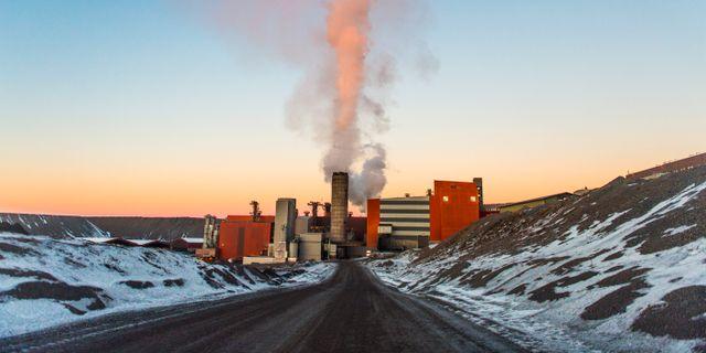 Översiktsbild gruvan i Kiruna.  Hanna Franzén/TT / TT NYHETSBYRÅN