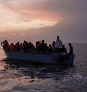Migranter utanför Libyens kust. Arkivfoto.  Renata Brito / TT NYHETSBYRÅN