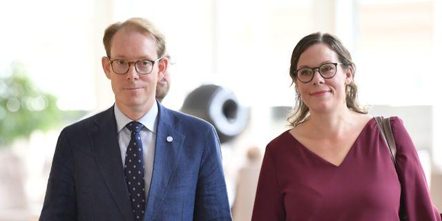Tobias Billström och Maria Malmer Stenergard. Jessica Gow/TT / TT NYHETSBYRÅN