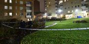 Polisavspärrningar efter dödsskjutningen Björn Larsson Rosvall/TT / TT NYHETSBYRÅN