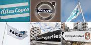 Verkstadsbolagen Atlas Copco, Volvo och Sandvik kan fortsätta att gå bra på börsen nästa år. Byggbolagen NCC, Oscar Properties och JM kan få det tuffare. Arkivbilder. TT