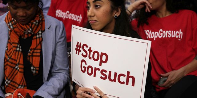 Arkivbild: Protester mot Gorsuch. ALEX WONG / GETTY IMAGES NORTH AMERICA