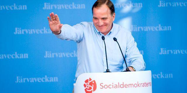 Stefan Löfven på Järvaveckan. Anders Wiklund/TT / TT NYHETSBYRÅN