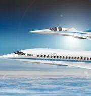 Booms supersonic-plan.  HANDOUT / TT NYHETSBYRÅN