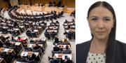 Sveriges riksdag och Yasmine Bladelius (S). TT och Sveriges riksdag.