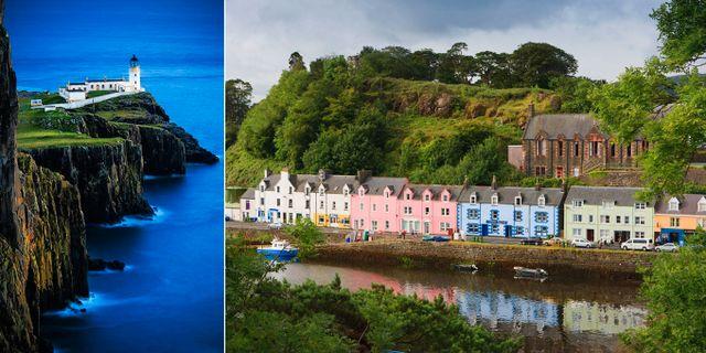Neist Point och Portree är två måsten på Isle of Skye. Darby / Alamy