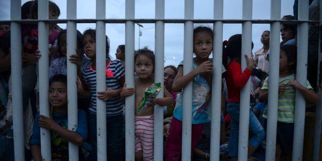 Barn vid Mexikos gräns. Oliver de Ros / TT NYHETSBYRÅN/ NTB Scanpix
