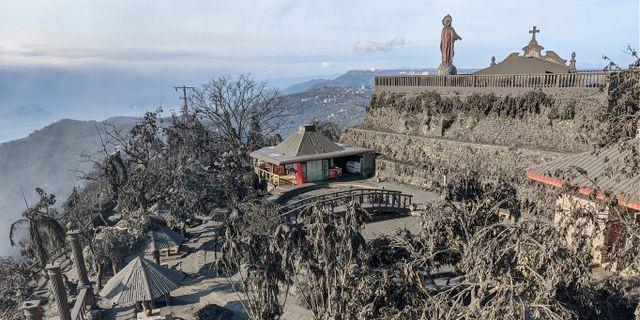 Aska i Tagaytay City. JEROME AUSTRIA ABUAN / TT NYHETSBYRÅN