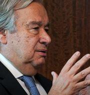 António Guterres i oktober 2020. Bebeto Matthews / TT NYHETSBYRÅN