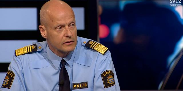 Biträdande rikspolischef Mats Löfving.  SVT
