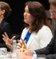 Arkivbild: Ann Linde vid ett möte med USA:s utrikesminister Antony Blinken i maj. Saul Loeb / TT NYHETSBYRÅN