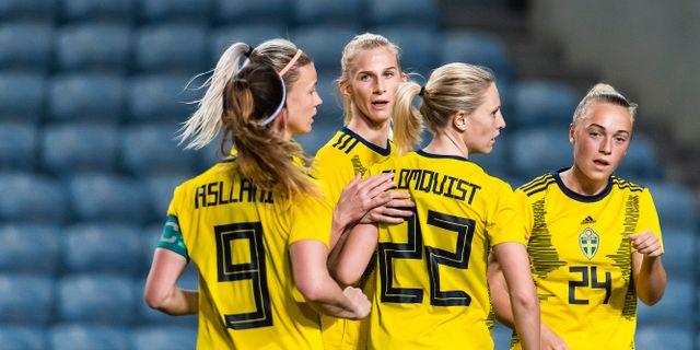 Blomqvist i landslagströjan.  LUDVIG THUNMAN / BILDBYRÅN