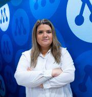 Matilda Ekeblad, ordförande för Muf. Fredrik Sandberg/TT / TT NYHETSBYRÅN