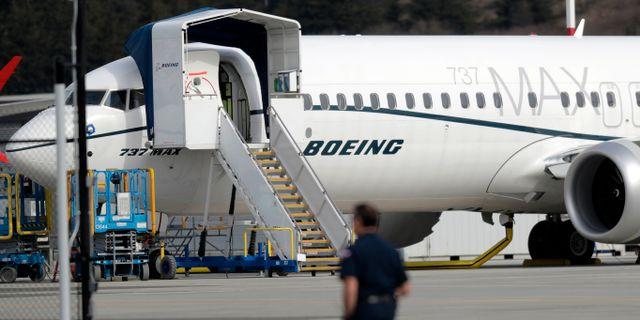 Arkivbild. En Boeing 737 Max 8.  Ted S. Warren / TT NYHETSBYRÅN/ NTB Scanpix