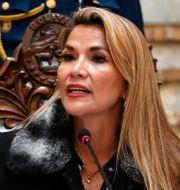 Jeanine Áñez. Natacha Pisarenko / TT NYHETSBYRÅN