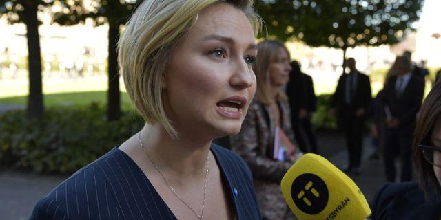 Ebba Busch Thor.  Anders Wiklund/TT / TT NYHETSBYRÅN