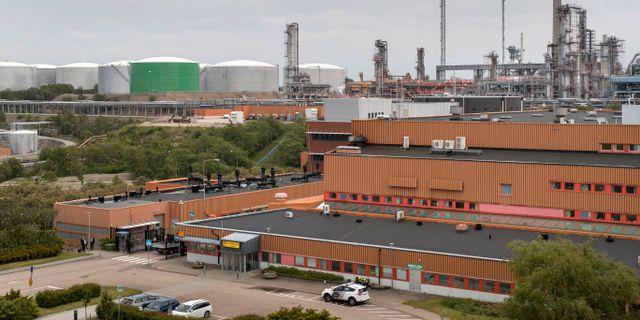 Preemraff, Preems oljeraffinaderi i Lysekil. Thomas Johansson/TT / TT NYHETSBYRÅN