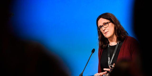 EU kommer bland annat att representeras av handelskommissionär Cecilia Malmström. Arkivbild.  Pontus Lundahl/TT / TT NYHETSBYRÅN