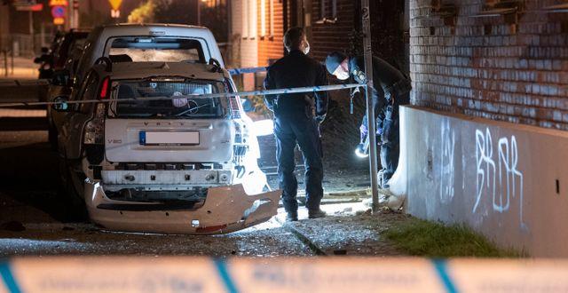 Explosionen i Sofielund i Malmö i november beskrivs av The Guardian. Johan Nilsson/TT / TT NYHETSBYRÅN