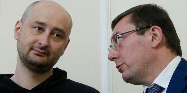 Arkadij Babtjenko och Yuriy Lutsenko. VALENTYN OGIRENKO / TT NYHETSBYRÅN