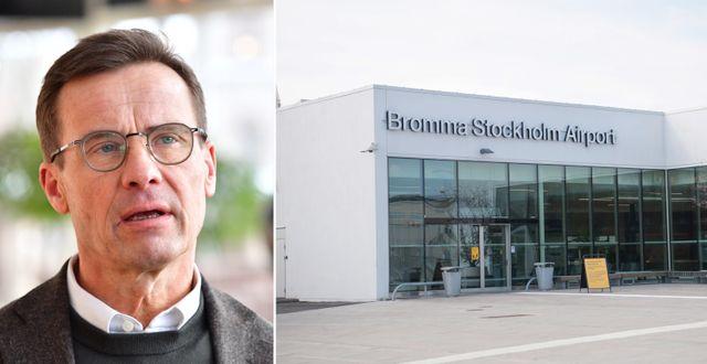 Ulf Kristersson/Bromma flygplats. TT