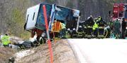 Olycksbussen i Sveg.  TT NEWS AGENCY / TT NYHETSBYRÅN
