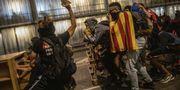 Demonstranter i Barcelona.  AP/TT