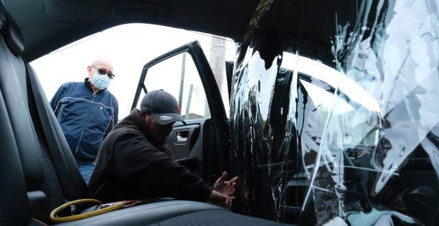 Uber-förare i New York. Seth Wenig / TT NYHETSBYRÅN