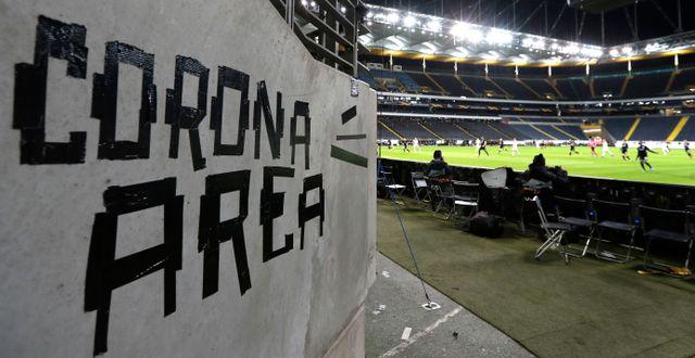 Arkivbild, arena i Frankfurt.  Michael Probst / TT NYHETSBYRÅN