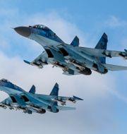 Su-27-plan. Mikhail Palinchak / TT NYHETSBYRÅN/ NTB Scanpix