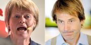 Ulla Andersson och Claes Hemberg. TT