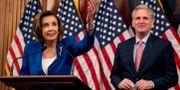 Nancy Pelosi och Kevin McCarthy. Andrew Harnik / TT NYHETSBYRÅN