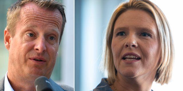 Anders Ygeman och Sylvi Listhaug. TT