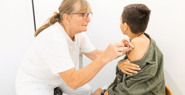 Vaccination i Danmark.  Claus Bech / TT NYHETSBYRÅN