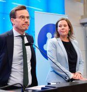 Ulf Kristersson och Maria Malmer Stenergard. Anders Wiklund/TT / TT NYHETSBYRÅN