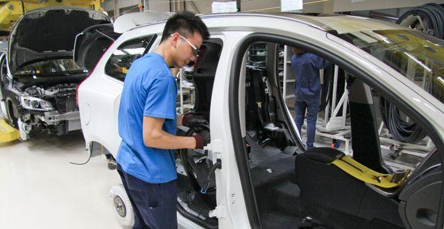 Arkivbild. Volvo Cars fabrik i Chengdu, Kina. KARIN OLANDER / TT / TT NYHETSBYRÅN