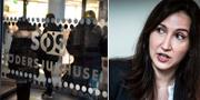 Oppositionsrådet Aida Hadzialic (S) är oroad över stabsläget på Södersjukhuset. Jessica Gow/TT samt Yvonne Åsell/SvD/TT