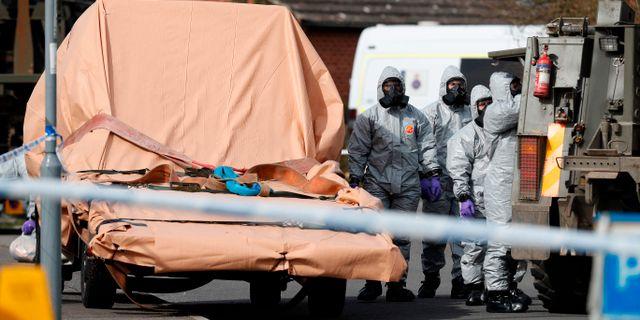 Polisen i Storbritannien utreder mordförsöket på den ryske dubbelagenten Sergej Skripal. ADRIAN DENNIS / AFP