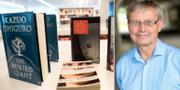 Författaren Kazuo Ishiguro mottog Nobelpriset i litteratur 2017. Till höger: Nobelstiftelsens styrelseordförande Carl-Henrik Heldin.  TT / Uppsala universitet