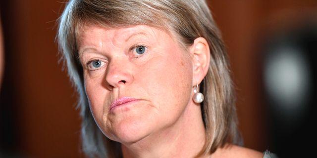 V:s ekonomiskpolitiska talesperson Ulla Andersson. Arkivbild. Stina Stjernkvist/TT / TT NYHETSBYRÅN