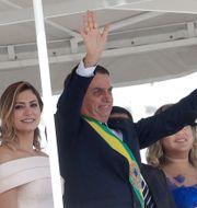 Bolsonaro med frun Michelle. Andre Penner / TT NYHETSBYRÅN/ NTB Scanpix