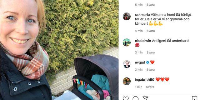 Annie Lööf berättade själv på Instagram. Instagram