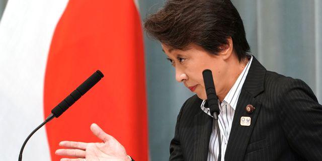 Den tidigare idrottskvinnan Seiko Hashimoto är Japans OS-minister.  Eugene Hoshiko / TT NYHETSBYRÅN