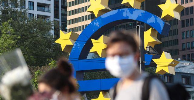 Bild från Europeiska centralbanken i Frankfurt am Main.  YANN SCHREIBER / TT NYHETSBYRÅN