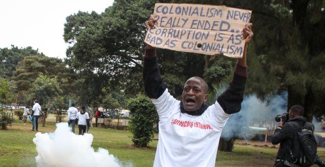 Demonstrant i Kenya. Illustrationsbild TT NYHETSBYRÅN