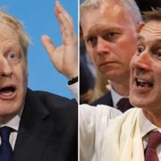 Boris Johnson och Jeremy Hunt.  TT.