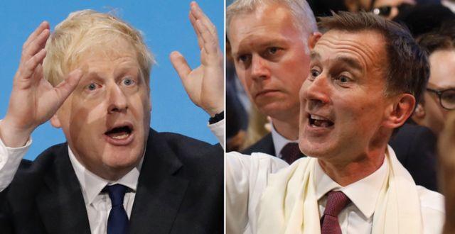 Boris Johnson och Jeremy Hunt.  TT.