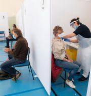 Vaccineringen i Stockholmsförorten Rinkeby. Fredrik Sandberg/TT / TT NYHETSBYRÅN