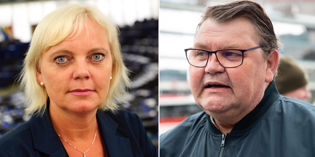 Kristina Wingren och Peter Lundgren. Arkivbilder. TT